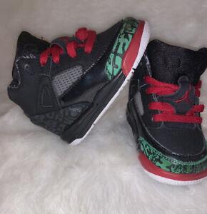 🔥 Nike Air Jordan Spizike Black Red Classic Green 2017 BT Tod 317701-026 sz 4c