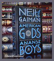 American Gods & Anansi Boys Neil Gaiman Brand New  Sealed Leather Bound Edition