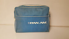 Vintage Pan Am Travel Bag Blue Canvas Material Bearse Manufacturing