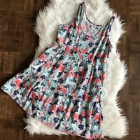 dELiA's Small Sleeveless Floral Sun Dress Pink Blue NWT