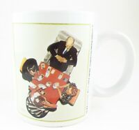 "Norman Rockwell ""The Bid"", ""The Game"" Ceramic Coffee Mug Tea Cup"