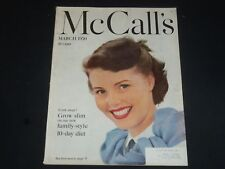 1950 MARCH MCCALL'S MAGAZINE - NICE COVER, STORIES & ADS - SP 6847