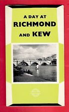 London Transport Bus & Tube Publicity Leaflet ~ A Day at Richmond & Kew - 1962/3