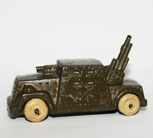 Vinitage Lead Metal Barclay Anti-Aircraft Gun Truck Car Military WWII Army