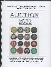 "2002 CASINO CHIP AUCTION CATALOG CC&GTCC CCA  GAMBLING ""POKER CHIP"""