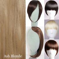 Clip In Bangs Fringe Fake Hair Extension Brown Black Straight Front Hair Bang lt