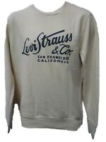 Levi Strauss Jumper Pullover Levis Logo Sweatshirt Top Cream Mens - NEW