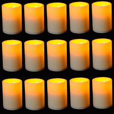 15 x LED Flameless Tealights Battery Operated Flickering Tea Light Led Candles