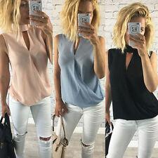 De Moda Para Dama Chaleco De Las Señoras Camisa Sin Mangas Blusa Casual Verano