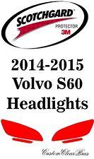 3M Scotchgard Paint Protection Film Clear Pre-Cut Headlights 2014 2015 Vovlo S60