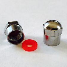 Rueda de aleación de Neumáticos Válvula Polvo Tapa Con Sello De Metal Pesado hexagonal Cabeza de 3 X 4