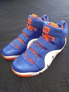 Nike Air Zoom Lebron IV 4 Birthday Bday Cavs sz 13 Blue Orange Knicks PE 15