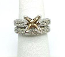 14K WHITE GOLD DIAMOND SEMI-MOUNT BRIDAL SET RETAIL $1,899