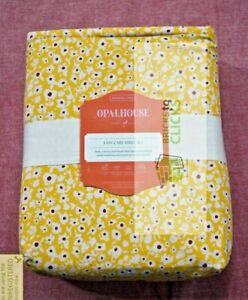 Opalhouse- Printed Easy Care Cotton Sheet Set, Ditsy Floral, Twin/Twin XL