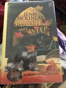 Library Lover's Mystery Read It & Weep Large Print Cozy Series Jenn McKinlay Hbd