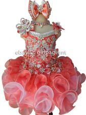 Infant/toddler/kids/baby/children Girl's Pageant/prom Dress 9~12 months B009