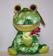 "Sugar Loaf Valentine FROG 11"" Looky Boos Heart Bow Shiny Plush Soft Toy Kellytoy"