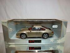 UT MODELS 27803 PORSCHE 911 993 COUPE - GOLD 1:18 - BOXED + TRANSPORT STRAPS CAR