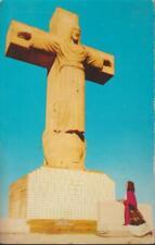Cristo Rey Christ of the Rockies El Paso Urbici Soler Sculpture circa 1960 Postc