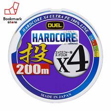 NEW Duel Hardcore X4 Casting 200m 18lb #1.0 Multicolor 4 Braid PE Line Japan