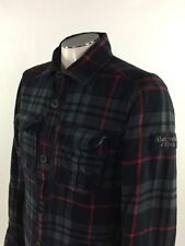 Abercrombie Fitch Stony Creek Plaid Flannel Jacket L/XL Flannel Sherpa Coat Mens