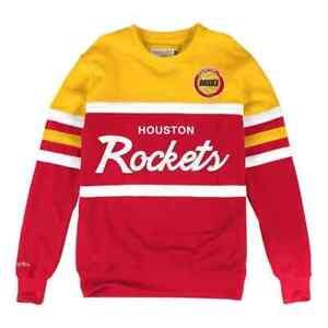 Houston Rockets Mitchell & Ness  Men's NBA Head Coach Crew Sweatshirt