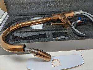 Rulia Copper Rose Gold Bronze Kitchen Faucet Pull Down Sprayer