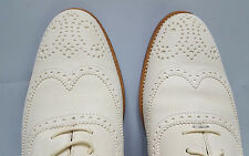RALPH LAUREN COLLECTION QUINTIN CREAM SUEDE WOMEN'S OXFORD SHOE SIZE 9B ITALY