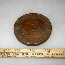1876 International Exhibition centennial commission medallion Copper original