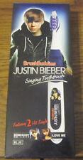 Kids Justin Bieber Singing Toothbrush by Brush Buddies Pop Music Blue 2 Singles