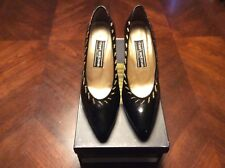 Vintage Black Patent Leather Stuart Weitzman Shoes Size 7B