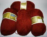 "4 Skeins, Bernat, ""Berella 4"", Ranch Rust, 4  Ply, 100% Acrylic, Worsted Yarn"