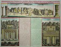 Persepolis - Königsgräber - Henri Abraham Chatelain 1719 -Originaler Kupferstich