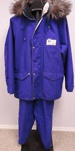 Rare Volvo Lillehammer 1994 Winter Olympics 2 Piece Hooded Snowsuit Purple L