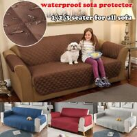 1/2/3 Seater Waterproof Pet Sofa Couch Cover Furniture Protector Slipcover Coat