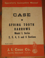 Ji Case Spring Tooth Harrow Model L 2 3 4 5 6 Operator's Instruction Manual Used