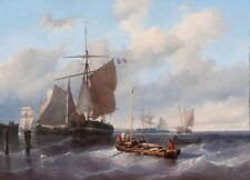 """perfect 36x24 oil painting handpainted on canvas""""marine """" N12994"""