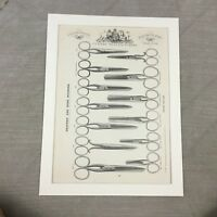 1880 Antique Print Drapers Scissors Vintage Advertising 19th Century Advert