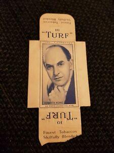 UNCUT 4 TABS - TURF (1950) Radio Celebrities - No. 49 Kenneth Horne