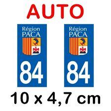 Autocollant plaque immatriculation voiture dpt 84 Vaucluse