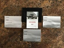 2018 GMC Canyon Owners Manual w/ Navigation Manual & Case w/ More - NEW - #A -#B
