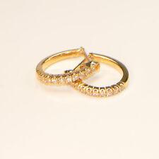 Diamant Creolen 0,21 ct in 750er Gelbgold 18 Karat Ohrringe Karat Ohrstecker
