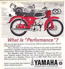 1964 YAMAHA RIVERSIDE 55 MOTORCYCLE  ~  NICE ORIGINAL SMALLER PRINT AD