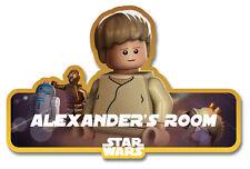 Lego Star Wars 'Luke Skywalker' Personalised Name Plate/Door Sticker