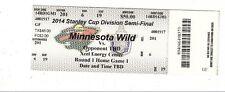 2014 MINNESOTA WILD VS COLORADO AVALANCHE TICKET STUB GAME #3 PLAYOFFS 4/21 TM