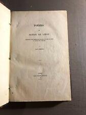 [9892-B37] Poésies en patois de Liège - Simonon - Félix Oudart