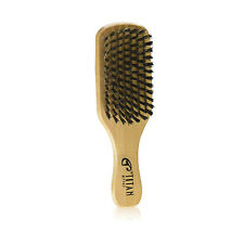 Unisex Boar Bristle Club Wooden Hard Hair Brush Wave
