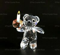 RARE Retired Swarovski Crystal Kris Bear Your Big Day 905791 Birthday Mint Boxed