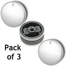 3 Silver Black Control Knobs for LAMONA LAM3200 LAM3300 LAM3207 LAM3404 Oven Hob