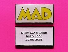 New MAD Magazine Logo Metal Tag Yellow Variant only 50 Made! #1 #001 June 2018
